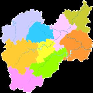 Lishui - Image: Administrative Division Lishui