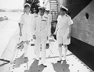 Admiral Pridham-Wippell on HM Submarine Torbay at Alexandria 1942 IWM A 10274.jpg