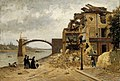 Adolf von Becker - The Bridge at Asnières after the Siege of Paris in 1971 - A I 107 - Finnish National Gallery.jpg