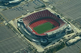 Arrowhead Stadium home venue of the Kansas City Chiefs