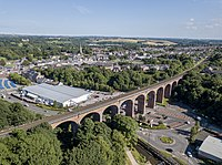 Aerial view of Chester Burn Railway Viaduct, Chester-le-Street.jpg