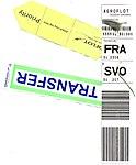 Aeroflot - bag tag with Transfer Priority - SU 207-SU 2306 Shanghai-Moscow-Frankfurt 2017-11-25.jpg