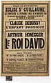 Affiche du Roi David Arthur Honegger Strasbourg 15 février 1925.JPEG