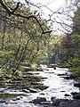 Afton Mellte, view downstream from footbridge - geograph.org.uk - 737293.jpg