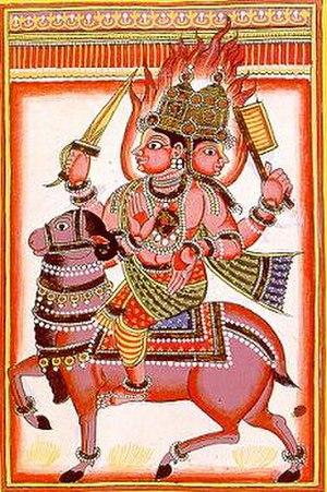 Fire worship - Agni the Hindu deity of fire, has a very prominent place among Rigvedic deities.