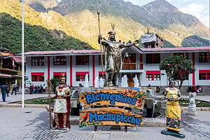 Aguas Calientes, Peru - Statue of Pachacutec