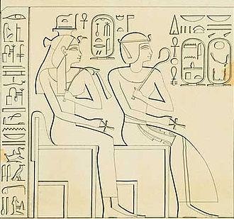 Ahmose-Nefertari - Ahmose-Nefertari and her son Amenhotep I.