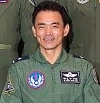 Air Force (ROCAF) Major General Liu Hui-chien 空軍少將柳惠千 (US Air Force photo 171020-F-EX201-1002 CFACC 18A group photo).jpg