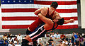 Airforce two men wrestling.jpg