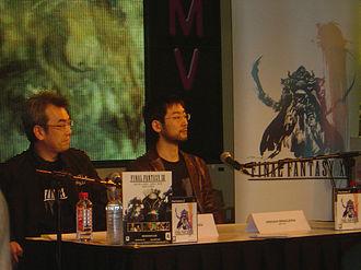 Final Fantasy XII - Akitoshi Kawazu (left) and Hiroshi Minagawa at the Final Fantasy XII London HMV Launch Party in 2007