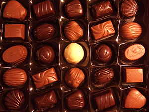English: A Swedish box of chocolates called &q...