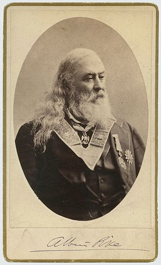 Albert Pike - Signed Carte de visite