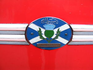 An Albion Nimbus badge, seen on Berresfords 25...