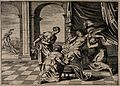 Alcmene giving birth to Hercules surrounded by attendants; i Wellcome V0014907.jpg