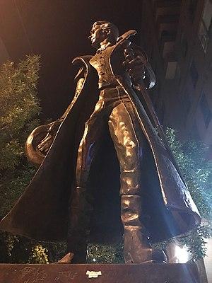 Del Newbigging - Image: Alexander Wood Memorial Statue, Sculpture Del Newbigging