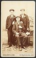 Alfred Charles Morley, Ernie Meldau and Thomas James Morley, late 1800s, by Walker, Blackfriars Road. (8013378456).jpg