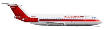English: An Allegheny Airlines BAC-111 in the ...