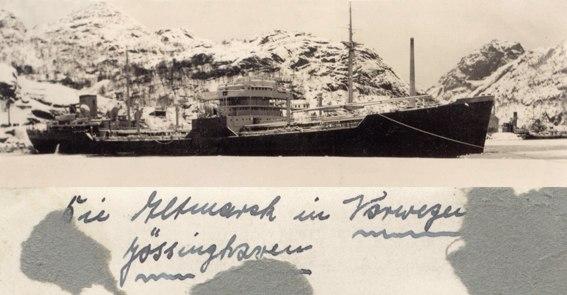 Altmark schiff norwegen joessingfjord