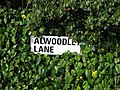 Alwoodley Lane street sign 16 Sep 2016.jpg