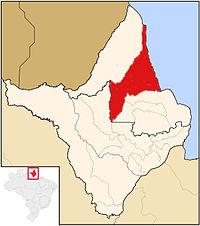Localisation de Calçoene, dans l'État d'Amapá