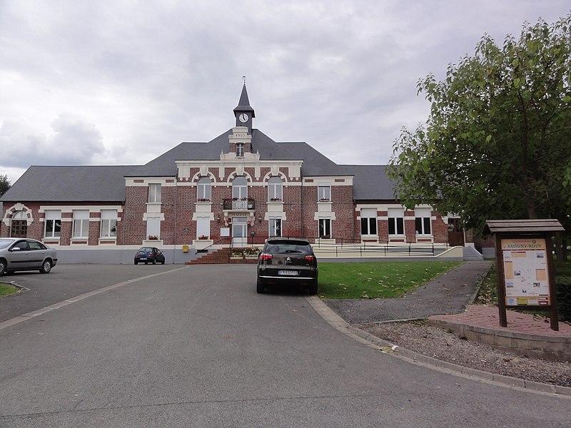 Amigny-Rouy (Aisne) mairie-école