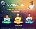 Amit Rohidas, Birendra Lakra and Dipsan Tirkey in 2017 Hockey World Cup Team.jpg
