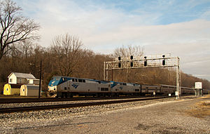 Amtrak's Capitol Limited speeds through Cherry Run in 2010.