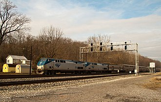 Cherry Run, West Virginia - Amtrak's Capitol Limited speeds through Cherry Run in 2010.