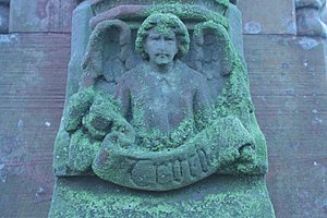 "Truth - An angel carrying the banner of ""Truth"", Roslin, Midlothian"