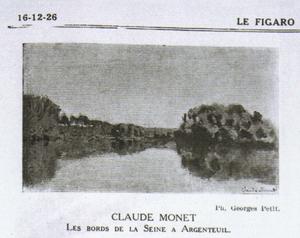 Bords de la Seine à Argenteuil - The photograph from the 1926 Le Figaro obituary