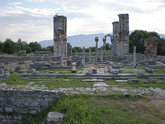 Kavala - View of the archaeological site of Philippi.