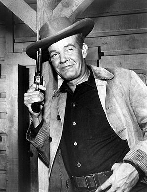 Andrew Duggan - Duggan as a guest star on the ABC/Warner Brothers western television series, Lawman (1962)
