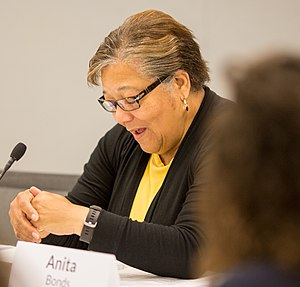 Anita Bonds - Image: Anita Bonds at DC Long Term Housing Affordability Roundtable (cropped)