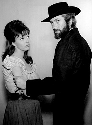 John Drew Barrymore - Barrymore with Anne Helm in a Gunsmoke appearance, 1964.