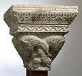 Anonyme toulousain - Chapiteau de colonnes jumelles , Oiseau aux cous enlacés - Musée des Augustins - ME 166 (2).jpg