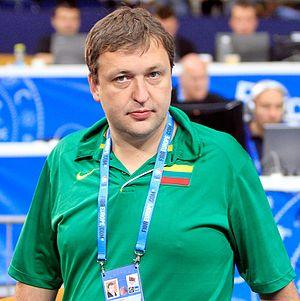 Antanas Guoga - Guoga with Lithuania men's national basketball team