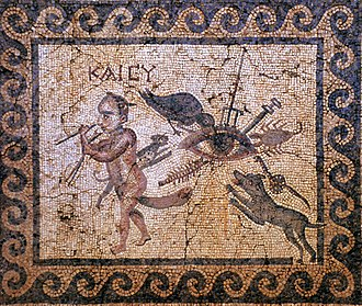 Evil eye - Roman-era mosaic from Antioch depicting a plethora of devices against the evil eye
