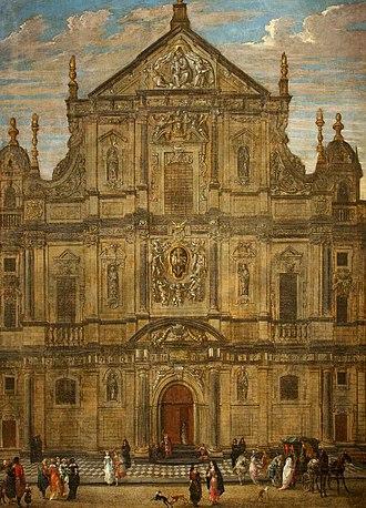 St. Charles Borromeo Church, Antwerp - Image: Anton Gunther Gheringh Façade of the Jesuit Church, Antwerp