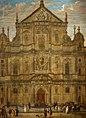 Anton Gunther Gheringh - Façade of the Jesuit Church, Antwerp.jpg