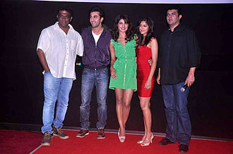 Anurag Basu - Anurag Basu, Ranbir Kapoor, Priyanka Chopra, Ileana Dcruz and Siddharth Roy Kapur at Barfi! promotion