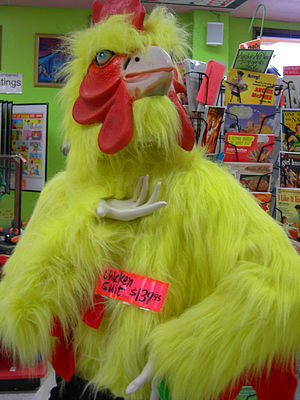 Archie McPhee - Chicken suit at the Archie McPhee store