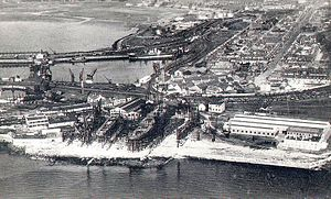 Ardrossan - Ardrossan from the air c. 1920
