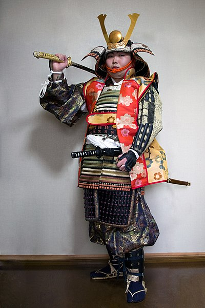 File:Armored Samurai with Jin-Haori.jpg