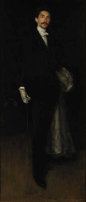Robert de Montesquiou - Portrait of Marie Joseph Robert Anatole, Comte de Montesquiou-Fezensac. Arrangement in Black and Gold by James McNeill Whistler, 1891/92.