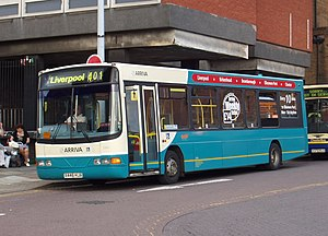 Arriva - Arriva North West & Wales Wright Cadet bodied VDL SB120 in September 2007 in the livery introduced when the Arriva brand was launched in 1997