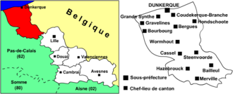 Westhoek (region) - The arrondissement of Dunkirk roughly corresponding to French Westhoek