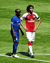 b79964177f0 Elneny (right) playing for Arsenal against rival club Chelsea in the 2017  FA Community Shield.
