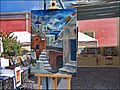 Arte e pittura a Oia, le scale di Santorini - panoramio.jpg