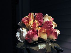 Nosegay - Image: Artificial flowers bouquet oldfashioned
