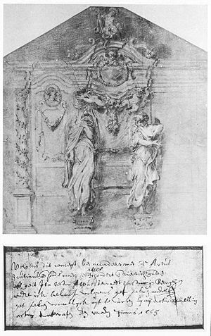 St. Peter in Chains Church (Beringen) - Design of confessional in the northern transept by Artus Quellinus II